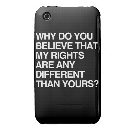 ¿POR QUÉ USTED CREE QUE LAS MIS DERECHAS SON Case-Mate iPhone 3 CARCASAS