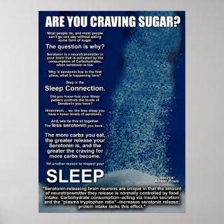 ¿Por qué usted está anhelando el azúcar? Póster