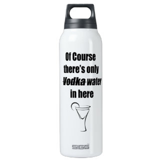 Por supuesto hay solamente agua de la vodka