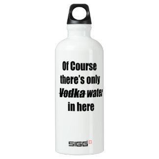 Por supuesto hay solamente agua de la vodka en