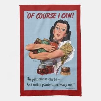 Por supuesto puedo toalla de cocina del poster de