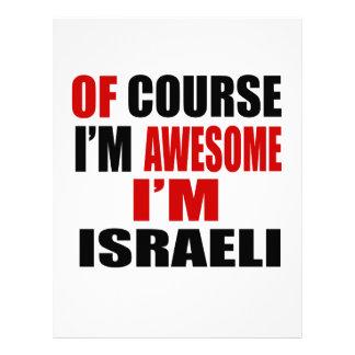 POR SUPUESTO SOY IMPRESIONANTE YO SOY ISRAELÍ PLANTILLA DE MEMBRETE