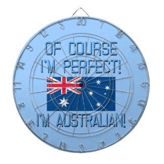 ¡Por supuesto soy perfecto, yo soy australiano! Tablero De Dardos