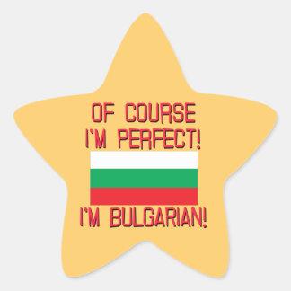 ¡Por supuesto soy perfecto, yo soy búlgaro! Pegatina En Forma De Estrella