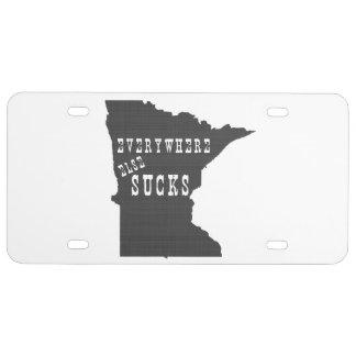 Por todas partes chupa Minnesota Placa De Matrícula