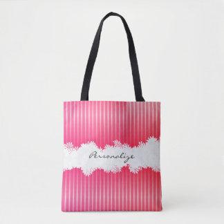 Por todo rayas rosadas bonitas de la impresión