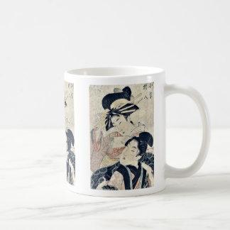 por Utamaro II, D. CA Ukiyo-e. Taza De Café