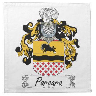 Porcara Family Crest Printed Napkin