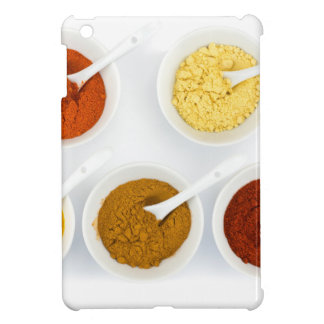 Porcelain bowls with various herbal spices case for the iPad mini