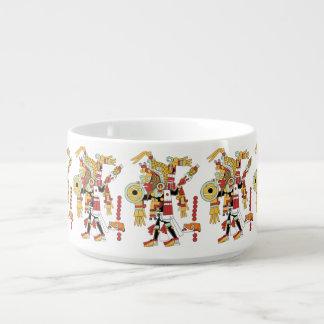 Porcelain Chili Bowl With Inca Shaman