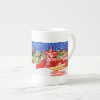 Porcelain cup glad Christmas