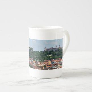 Porcelain cup Wuerzburg fortress Marienberg