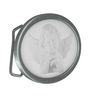 Porcelain Cupid Oval Belt Buckle