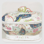 Porcelain dish, 18th century square sticker