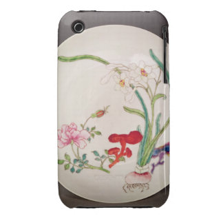 Porcelain dish, famille rose decoration, Yung Chen iPhone 3 Cover
