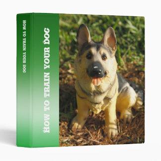 Porcelain Dog 3 Ring Binders