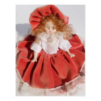 porcelain doll postcard
