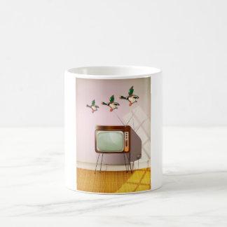 Porcelain Ducks on the Wall Coffee Mug