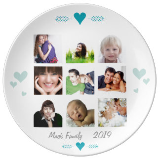 Porcelain Family Photos Plate