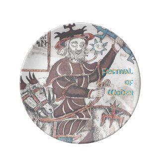 Porcelain Festival of Woden Plate