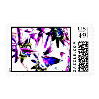 Porcelain Flowers - Postage Stamp