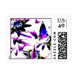 Porcelain Flowers - Square Postage Stamp