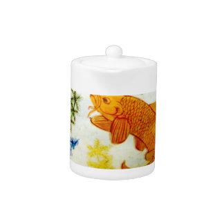 Porcelain Goldfish - Tea Pot