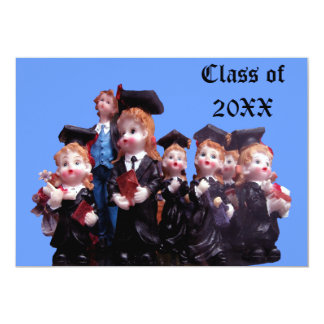 Porcelain Graduates Class of 20XX 5x7 Paper Invitation Card