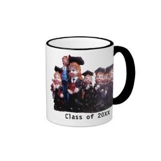 Porcelain Graduates Class of 20XX Ringer Coffee Mug