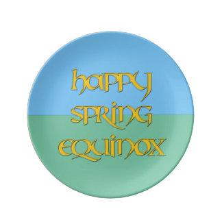 Porcelain Happy Spring Equinox Party Plate Porcelain Plate