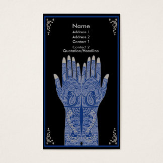 Porcelain Henna Hands Business Card