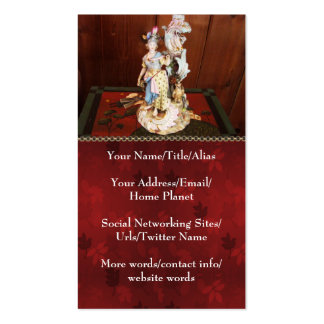 Porcelain Lady Double-Sided Standard Business Cards (Pack Of 100)