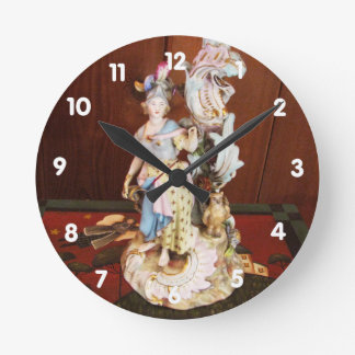 Porcelain Lady Wall Clock