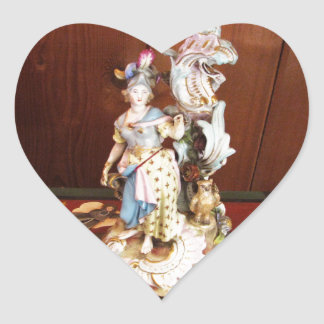 Porcelain Lady Heart Sticker