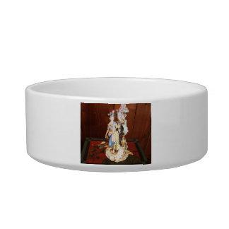 Porcelain Lady Pet Food Bowls