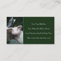 Porcelain Pig Business Card