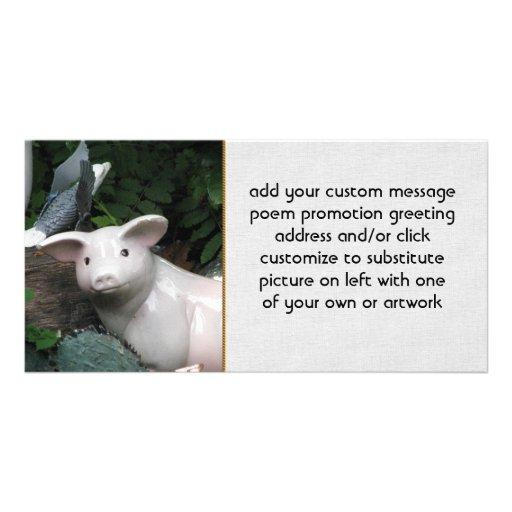 Porcelain Pig Photo Card