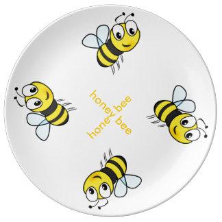Porcelain Plate honey bee