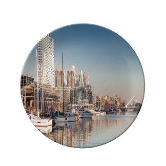 Porcelain plate Marina and Bateaux #1