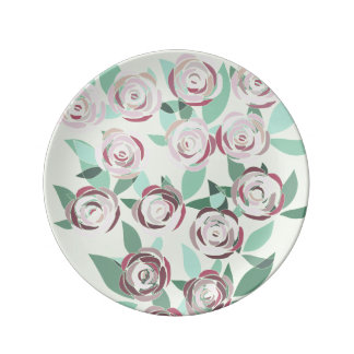 Porcelain plate Vitral Bouquet of Roses