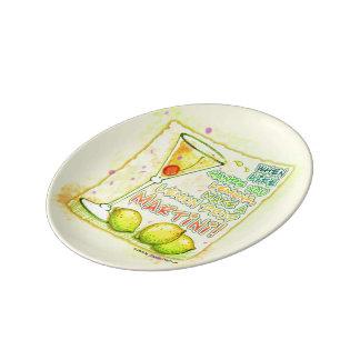 PORCELAIN PLATES - LEMON DROP MARTINI