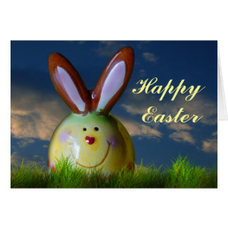 Porcelain Smiling Rabbit Greeting Cards