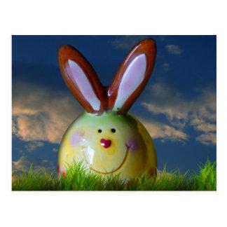 Porcelain Smiling Rabbit Postcard