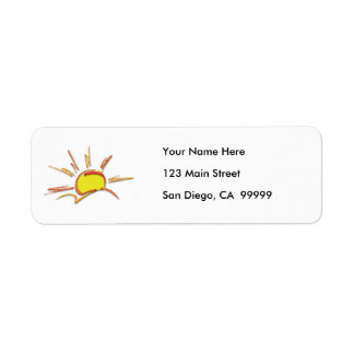 Porcelain Sunrise Return Address Label