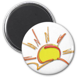 Porcelain Sunrise Magnet