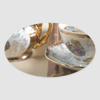 Porcelain tableware from the 19th century German Oval Sticker