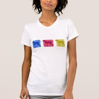 Porcelaine colorido siluetea la camiseta