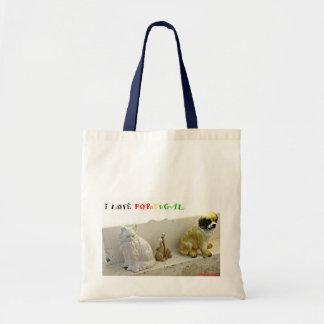 PORCELAINE DOG AND CAT LOVES PORTUGAL BAG