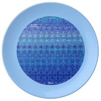 Porcelan plate Venetian style Porcelain Plate
