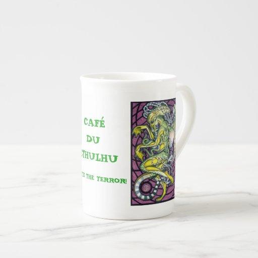Porcelana de hueso de la taza de Cthulhu del pavor Tazas De Porcelana